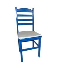 Cadeira Collor Blue (c/ assento branco)