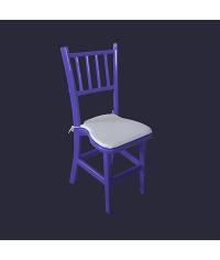 Cadeira Lotus Collor Blue 0,40 x 0,40 x 0,98 cm (CxLxH)