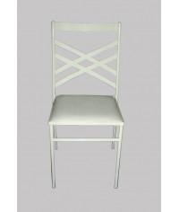 Cadeira de Ferro Branca (c/ assento branco) - 0,40 x 0,43 x 0,90 (CxLxH)