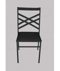 Cadeira de Ferro Preta (c/ assento preto) - 0,40 x 0,43 x 0,90 (CxLxH)