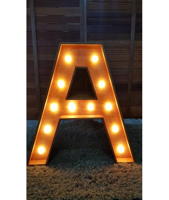 "Letra ""A"" Luminosa 0,70 x 1,05 (LxH)"