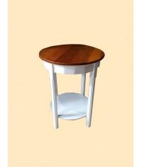 Mesa Belle (branca c/ tampo de madeira) 0,60 x 0,70cm (DxH)