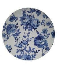 Sousplat Flower Blue Ø 0,35 x 0,03 (DxH)